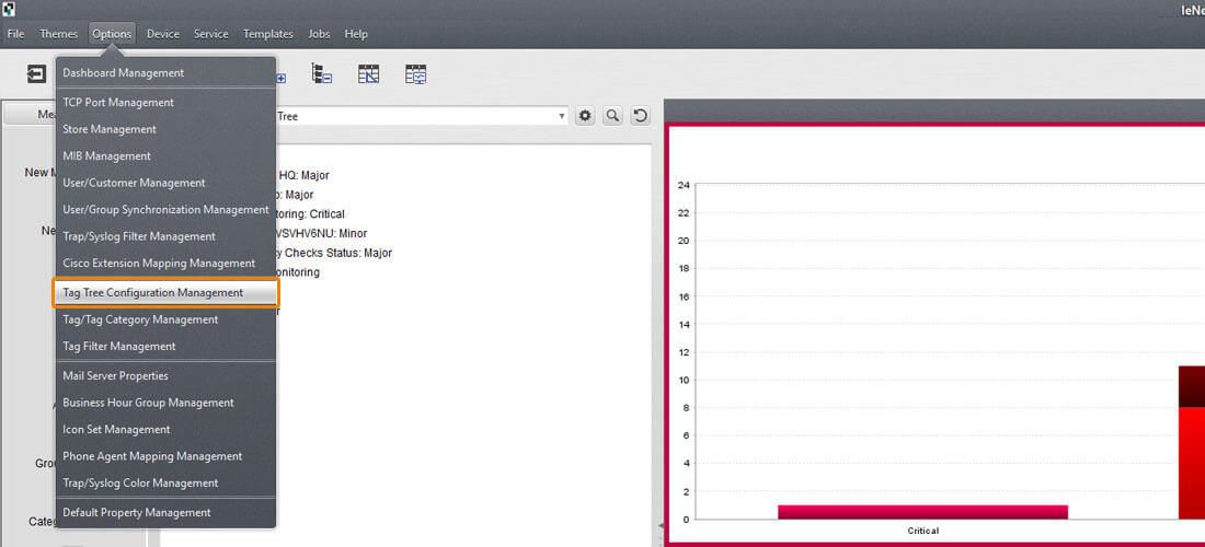 screenshot StableNet® charts context menu graph