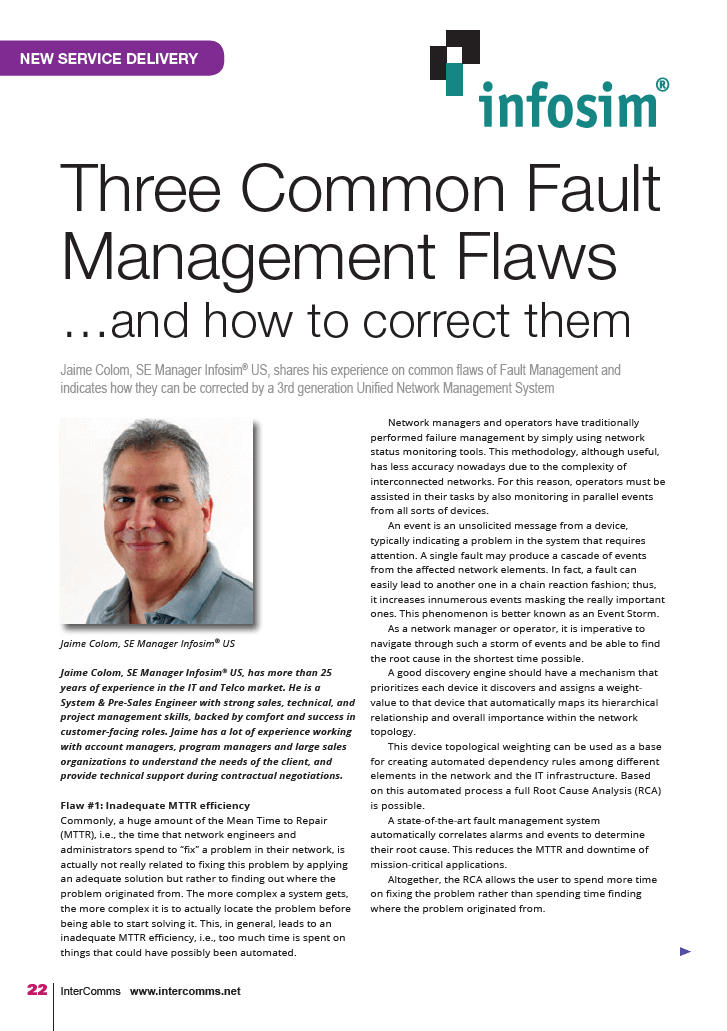 Three Common Fault Management Flaws… and how to correct them