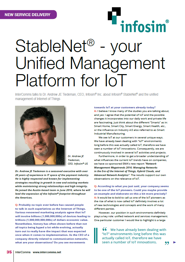 StableNet – your Unified Management Platform for IoT