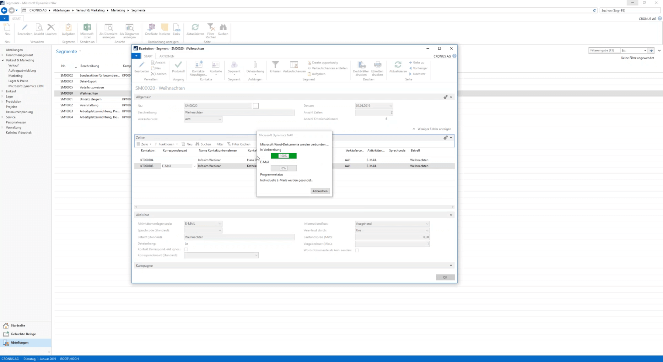 Microsoft Dynamics Nav Screenshot