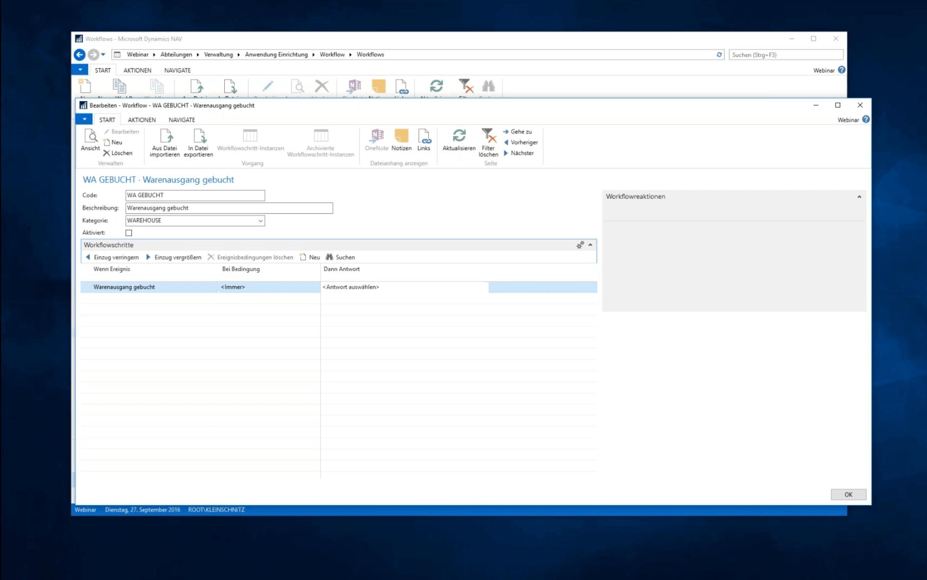 Webinar Workflow In Dynamics NAV 2016 (5)