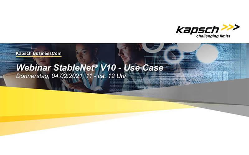 Webinar StableNet® 10 – von unserem Business Partner Kapsch